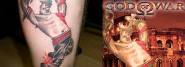 Video Game Tat Goes Wrong, Features Kratos from God of War