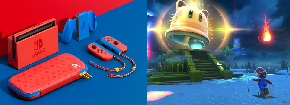 Nintendo Unveils Red & Blue Switch Console, Bowser's Fury Trailer