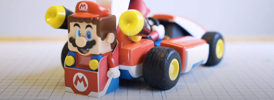 This Design Studio Combined Mario Kart Live with Lego Mario