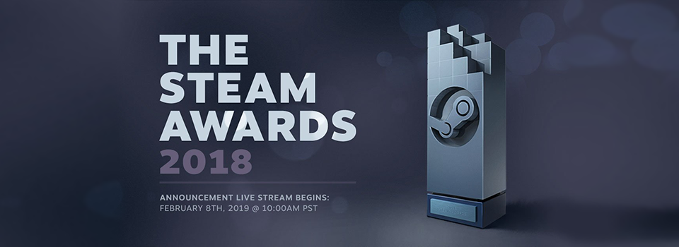 Steam to Broadcast Steam Award 2018 Winners Live on Steam.TV