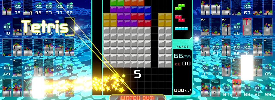 Tetris 99 is a Free To Play Battle Royale Tetris Game