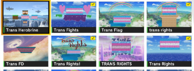Smash Bros Ultimate's Online Custom Stages are Full of Trans Rights