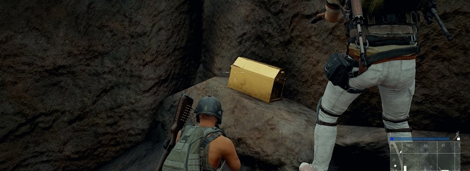 Strange Gold Chests Appear Around PUBG Map