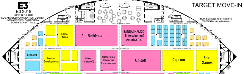 E3 Floor Plans And Booth List Released Gamerz Unite