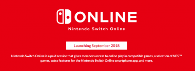 "Nintendo Switch Online to Launch ""in the Second Half of September"""