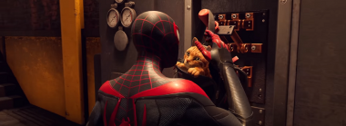Spider-Man: Miles Morales Features a Crime Fighting Cat in a Backpack